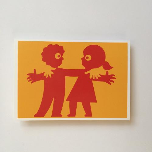 Briefkaart_kind_jongen_meisje