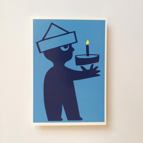 Briefkaart_kind_jongen_taart